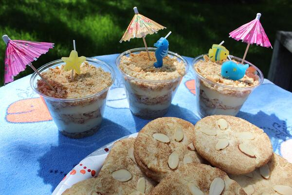 sandy beach dessert cups