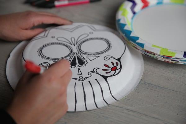 Create these Solo plate calaveras masks 1