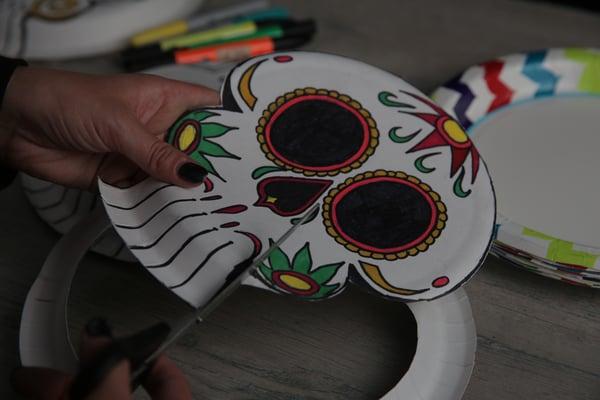 Create these Solo plate calaveras masks 2