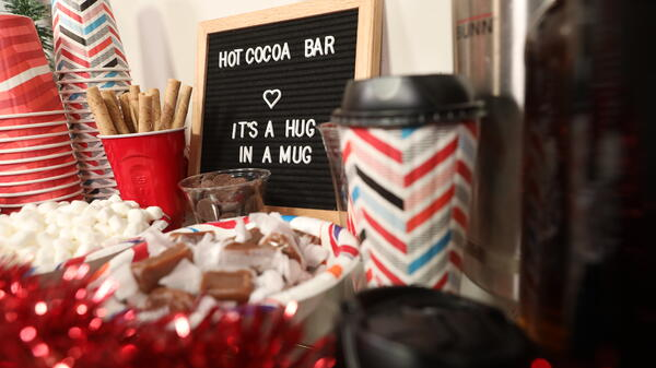 hot cocoa bar cart 1