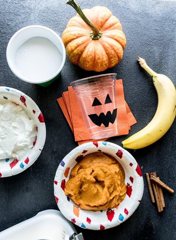 jack o lantern pumpkin smoothie 2